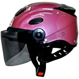 Kart Trade Aeroh Urban Half Face Unisex Helmet Medium (Pink)