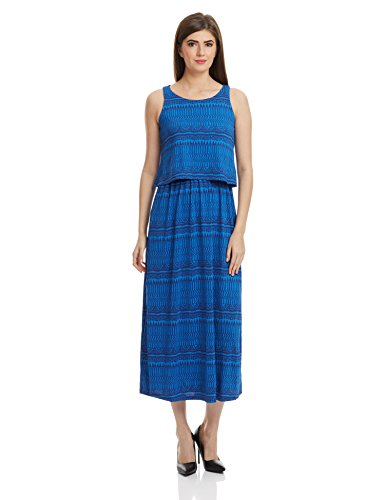 global desi Women's Pleated Dress (X24941-MX-CKP_Print_X-Small)