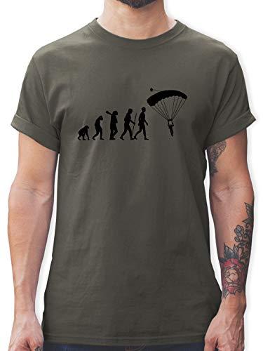Evolution - Fallschirmspringen Evolution - L - Dunkelgrau - L190 - Tshirt Herren und Männer T-Shirts