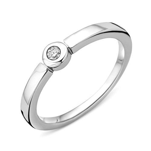 Miore - Bague Solitaire - Argent 925 - Diamant 0.05 cts - T50 - MSAE087DR50