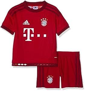 adidas Fc Bayern Munich Domicile Ensemble manches courtes Garçon Fcb True Red/Craft Red/Fcb True Red/Craft Red FR :3- 4 ans (Taille Fabricant : 104)