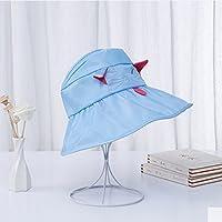 Los Sombreros De Niños Niñas Visera Niños Vacío Protector Solar Princesa De Verano Dayan Niño Sol Sombrero Fresco,Blue