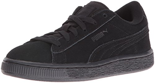 Puma High Risked Black White Suede Youths Trainers Black/White