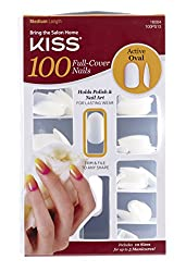 Kiss Products 100 Full Cover Nails, Active Oval, 0.24 Pound