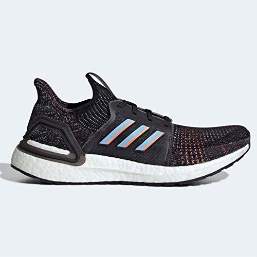 Adidas ULTRABOOST 19, Scarpe running uomo, Nero (CoreBlack/GlowBlue/CoreBlack), 47 1/3 EU