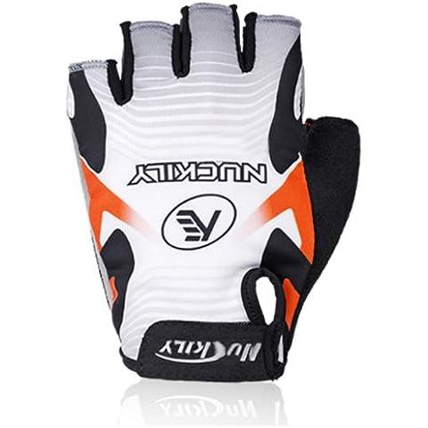 MaMaison007 Biciclette Nuckily ciclismo guanti mezze dita guanti XL-grigio