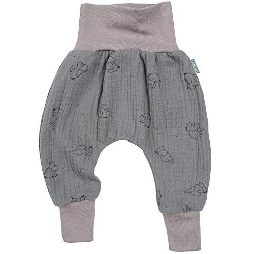 Lilakind - Pantalones Bombachos para bebé, Muselina, Elefante, Menta, Rosa, Topo, Talla...