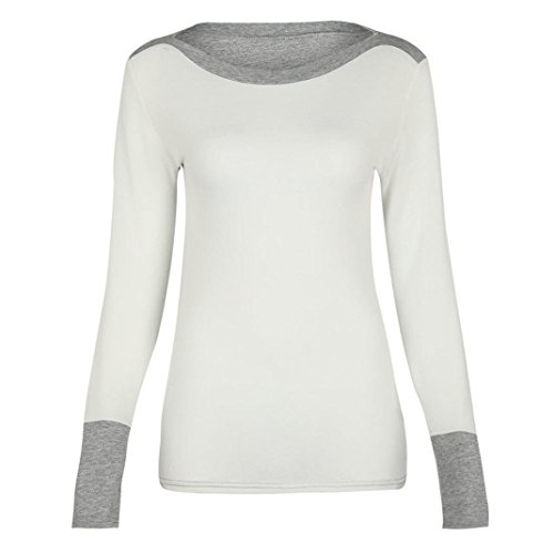dba1480fc23a koobea Magliette Donna Maniche Lunghe Nero Inverno Autunno Elegante Donna  Tshirt Manica Lunga Tops