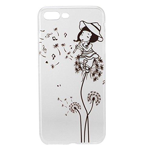 Pour Apple iphone 7 plus Plus (5,5 Pouces) Coque ZeWoo® Étui en Silicone TPU Housse Protecteur - HX014 / Flamants Roses HX009 / Une Fille De Pissenlit