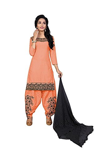 Salwar suit Dress materials for women dress materials for women party wear cotton dress materials for women dress materials for women anarkali For Special Sale Monsoon Great Deals (Peach)  available at amazon for Rs.599
