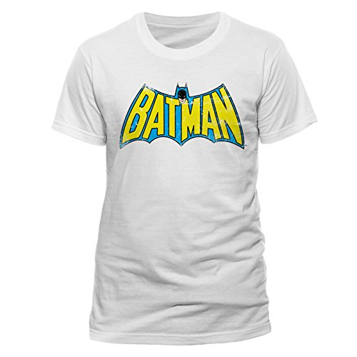en T-Shirt BATMAN-RETRO LOGO, Gr. X-Large, Weiß ()