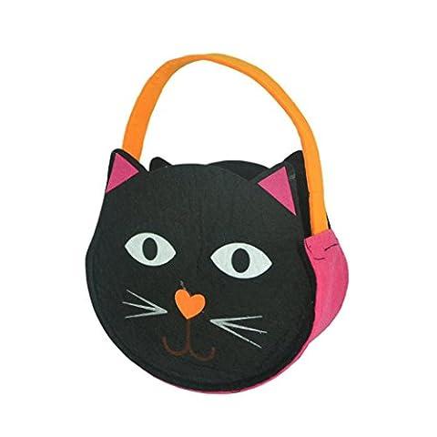 Halloween Candy Bag, FEITONG Halloween Sourire Belle Enfants de sucre Sac Tricky (Noir)