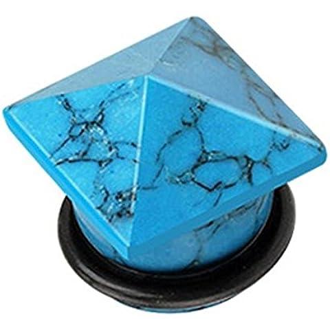 Coolbodyart Single lingua blu turchese pietra pregiata