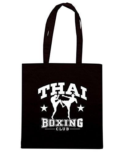 T-Shirtshock - Borsa Shopping TBOXE0096 thai boxing Nero