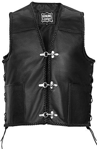Juicy Trendz Man Leather Vest For Motorcycle Jacket Biker Moto Leather Waistcoat