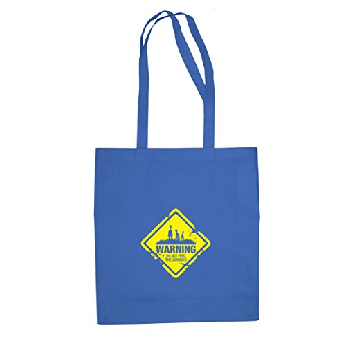 Do not feed the Zombies - Stofftasche / Beutel, Farbe: blau