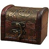 Gosear Mini Retro Vintage Caja de Almacenaje Embalaje Estuche de Madera Decorativo para Joyería Pulsera Collar