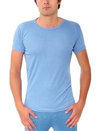 Mens Thermal Warm Winter UnderwearUnderwear Type:Short Sleeved Tshirt / Vest Colour:Blue Size:Extra Large (XL)