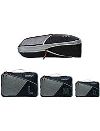 Packing Cubes de Compresión, Organizadores de Equipaje, 3 Set Organizador para Maletas, Bolsas para Ropa Zapato Sucia de Viaje, Accesorios para Viajes de Riemot