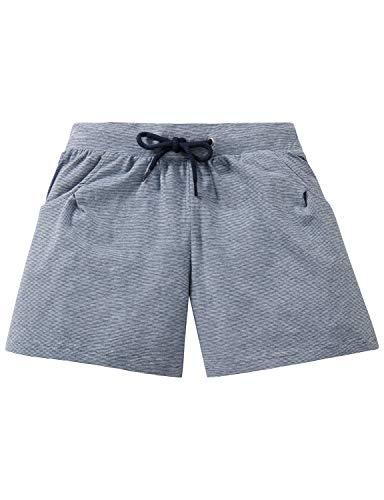 Schiesser Mädchen Mix & Relax Jerseyshorts Schlafanzughose, Blau 800, 140 (Herstellergröße: XS)