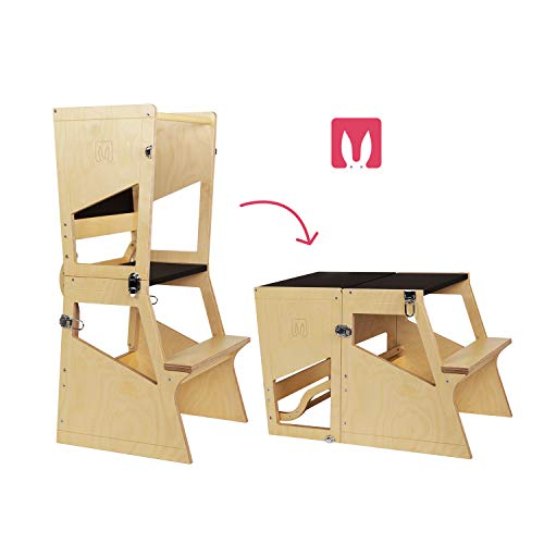 Bianconiglio Kids Moka TRS Learning Tower Lernturm Montessori transformiert im Tisch - Kitchen Helper