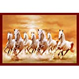 AN by white 7 horses running vastu wall art paintings wallpaper poster For Room | wall | bedroom | home | kitchen wall | home decorations items everywhere(Multicolour, 12 x 18-inch)Without Frames- Only Poster.