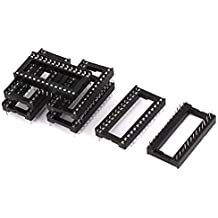 DealMux soldadura Tipo DIP de 28 pines de circuitos integrados IC zócalo conector, 6 piezas