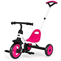 Y & Y TOY STORE ON LINE LITTLE TIGER 3 WHEEL 2 IN 1 KIDS CHILDREN TRIKE TRICYCLE WITH REMOVABLE PARENTS PUSH HANDLE BAR