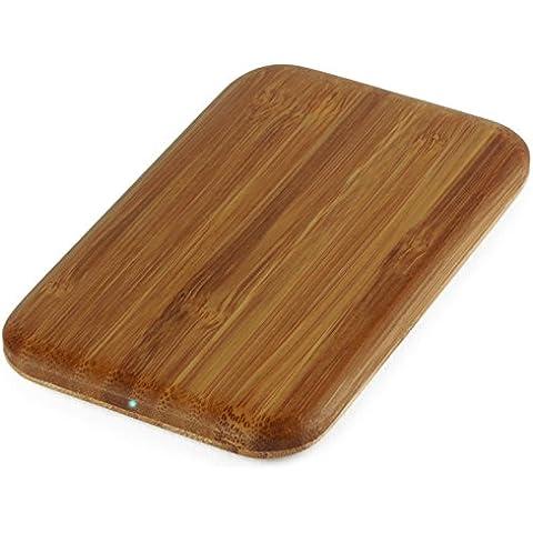 garantía de 5años Maxfield inalámbrica Cargador de carga Pad | Wireless Charger | bambú | Inducción | inalámbrico | Samsung Galaxy S6| Apple iPhone 5S, 6Plus, Nokia Lumia