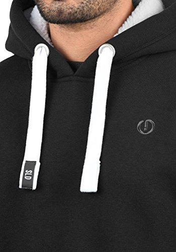 SOLID BennHood Herren Kapuzenpullover Hoodie Sweatshirt aus hochwertiger Baumwollmischung Black Pil (P9000)