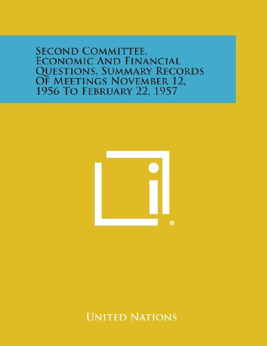 Second Committee, Economic and Financial Questions, Summary Records of Meetings November 12, 1956 to February 22, 1957