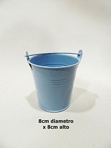 SZ - Cubo pequeño latón 8cm Azul