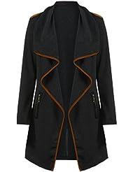 camisa de entrenamiento sudaderas Sannysis chaquetas deportivas manga larga jersey pull-over para mujer tops cardigans largo con cuello irregular