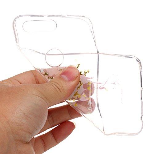 Coque Huawei Honor 8,Étui Huawei Honor 8,Surakey Etui Housse Mince Silicone Transparent pour Huawei Honor 8 Coque de Protection en TPU avec Absorption de Choc Bumper et Anti-Scratch avec Mandala de fleurs Papillon Marbre motif Etui de Protection Cas en caoutchouc en Ultra Mince Premium Semi Hybrid Crystal Clear Flex Soft Skin Extra Slim Téléphone Couverture TPU Case Coque Housse Étui pour Huawei Honor 8 - Flamants d'érable