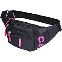 CAACOO Cool Bum Waist Bag 3 Zip Pockets Travel Hiking Outdoor Sport Bum Bag Holiday Money Hip Pouch pack