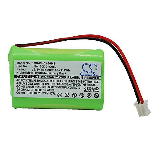 YINHUAN Telefonbatterie der hohen Kapazität 2.4V 1200mAh Wieder aufladbare Batterien des Volt 2.4V für SBC466, SBC-S477, SBC-S484 / 310412893522, NA120D01C089, Philips