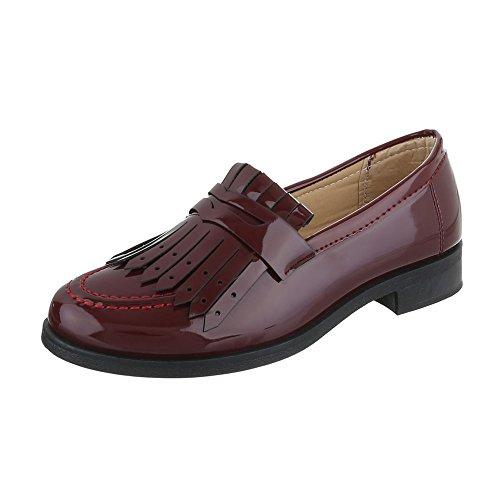 Ital-Design - Pantofole Donna Bordeaux