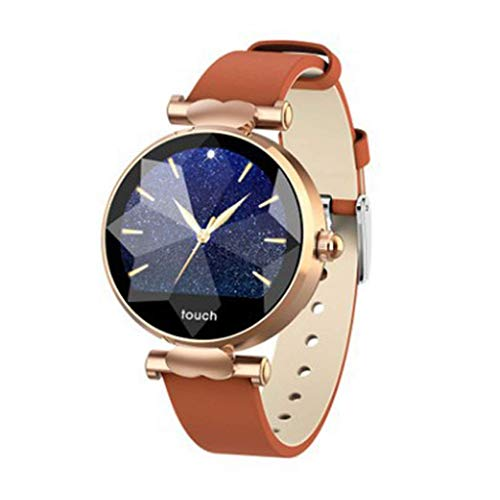 Smart Watches Round 1.04 Inch Touch Screen Waterproof Health & Fitness Physiological Cycle Heart Rate Monitor Sports Smartphone Notifications Bracelet -