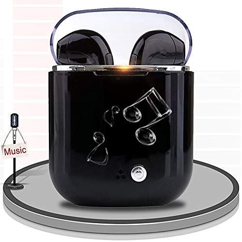 MAOLAOBAN Kabellose Ohrhörer, V4.0 Kopfhörer In-Ear TWS Bluetooth-Kopfhörer Kabellose Kopfhörer mit automatischem Pairing, High Definition-Mikrofon und Stereo-Sound,Black Touch High-definition-stereo