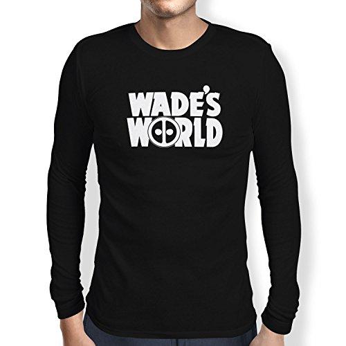 TEXLAB - Wade´s World - Herren Langarm T-Shirt, Größe L, schwarz Shrek Rucksack