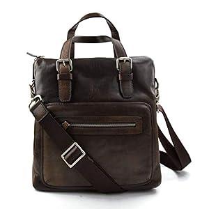 Herren dunkel braun schultertasche notebooktasche ledertasche gürteltasche hüfttasche umhängetasche tragetasche damen…