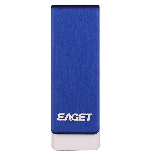 EAGET Ados PenDrive USB 3,0 16GB Blu Metallo Chiavette USB Alta Velocità Durevole Portachiavi F50