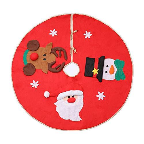 Da.Wa 1X 100cm Falda Arbol Navidad Rojo Diseño Papá
