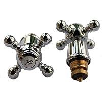 Plumb-Pak Roma Têtes de robinets chromées
