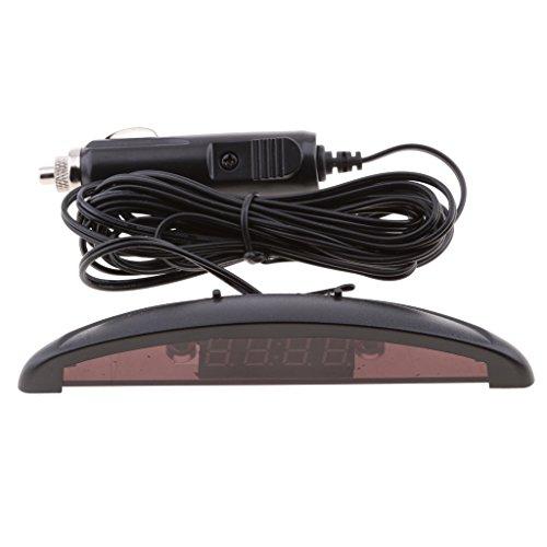 perfk Digitaluhr 12v Elektronische auto Voltmeter-Thermometer