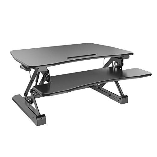 HFTEK Sitz-Steh-Desktop-Schreibtisch Arbeitsplatz Sit & Stand Laptop Mount Workstation (FY07LD)