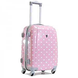 bagages madisson valise cabine a pois 4 roues rigide 50cm rose bagages. Black Bedroom Furniture Sets. Home Design Ideas
