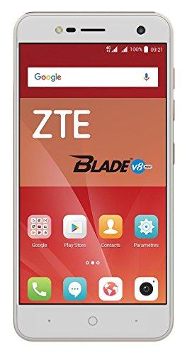 ZTE Blade V8 Mini Smartphone (12,7 cm (5 Zoll) Display, 16 GB Speicher, Dual-SIM, Android 7.0) gold