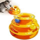 MJD Gatos Juguetes para Mascotas Interactivo Track / Plato / Juguete con Bolas Verde / Amarillo Pl¨¢stico , yellow , l
