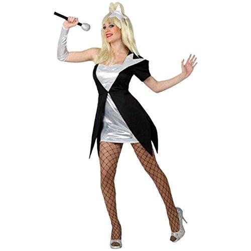 Kostüm Sängerin Gr. XL + Perücke + Mikrofon Popsternchen (Handschuhe Gaga Lady)
